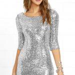 Fancy silver sequin dress