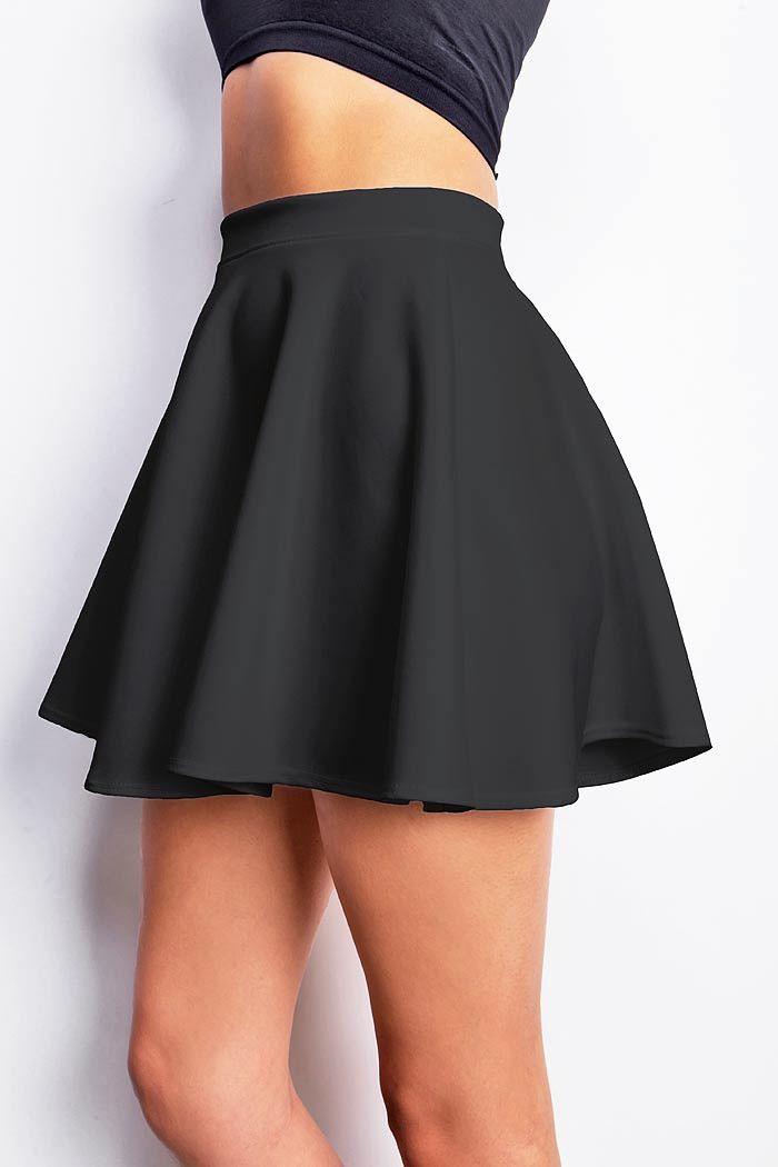 skater skirts classic skater skirt with a stretchy elastic waistband. light scuba-like  fabric with subtle VMEANTF