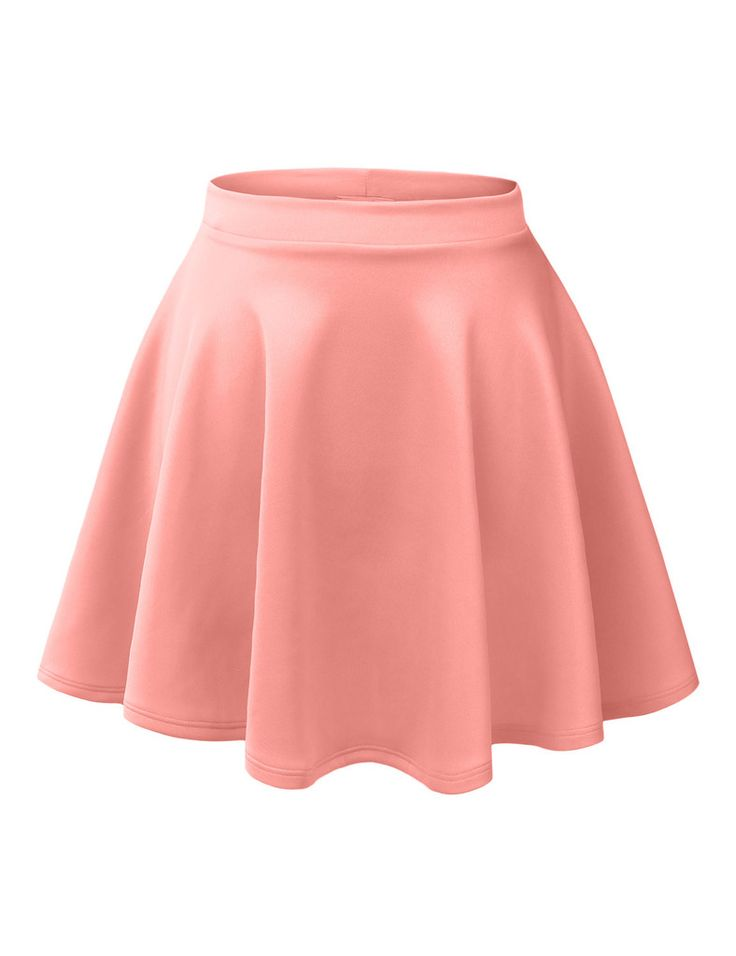 skater skirts le3no womens basic versatile stretchy flared skater skirt IPPLNUD