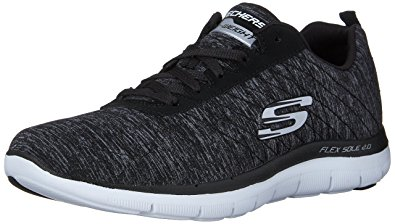 Skechers sneakers skechers sport womenu0027s flex appeal 2.0 fashion sneaker, black/white multi,  ... BFEYDNC
