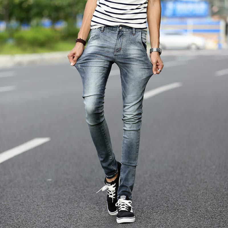 skinny jeans for men brand mens hip hop korean skinny jeans men fashion slim fit elastic ripped jeans HRAVHIV