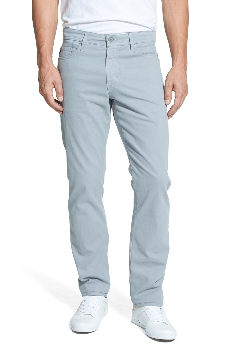 slim-straight light steel blue chinos for men - buy it here for $178 UUJZAMH