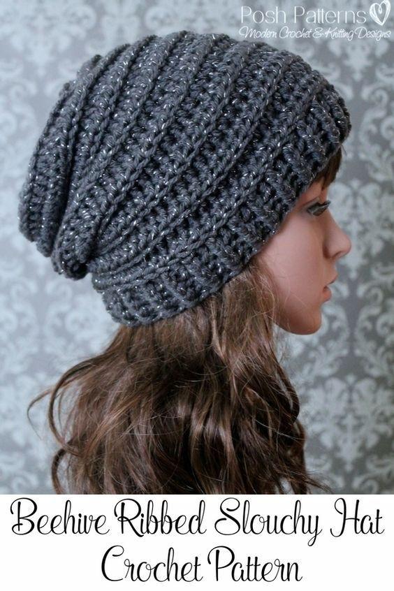 slouchy beanie crochet pattern crochet pattern - easy crochet pattern - crochet slouchy hat pattern -  ribbedu2026 YUDACBX