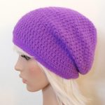 Cute look in the slouchy beanie crochet pattern