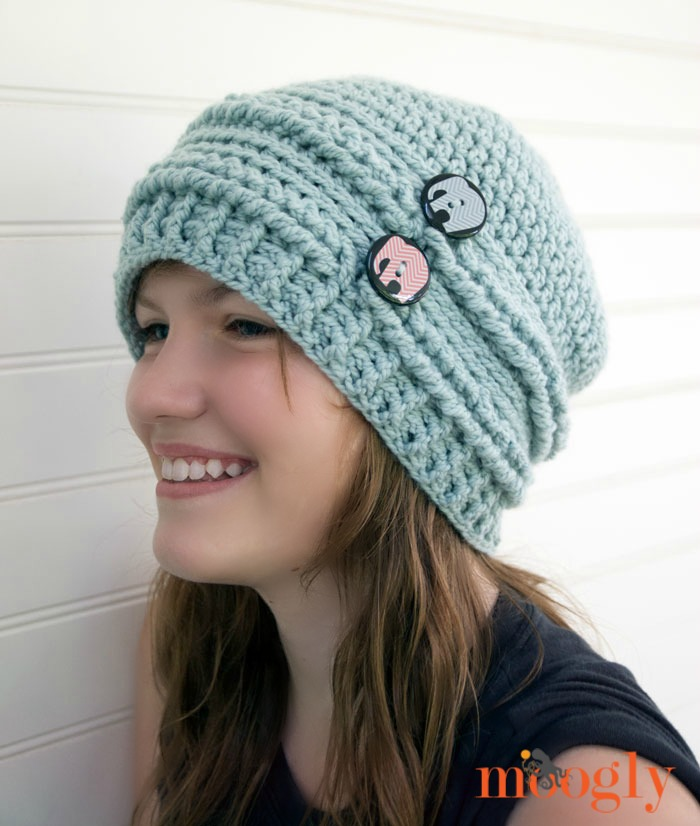 slouchy beanie crochet pattern ups and downs slouchy beanie - free #crochet pattern on mooglyblog.com with  a OZNLHIJ