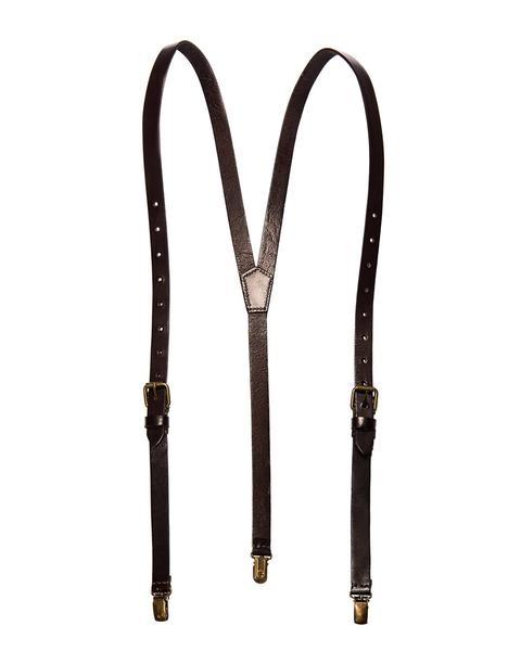 smoke - black leather suspenders (clip-on) YLEMQQY