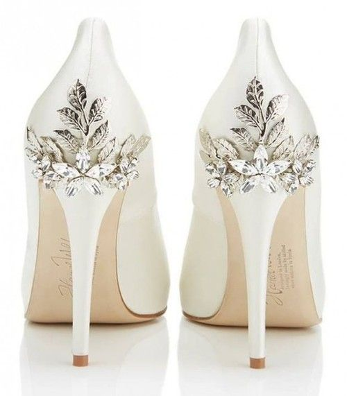 Sparkle Ivory Wedding Heels Uhghaek
