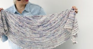 spindrift easy knitted shawl pattern FXNGHYG