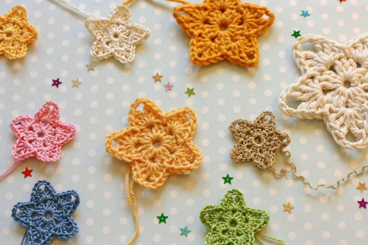 star crochet pattern 9.crochet easy star colour free pattern IYOWBUA