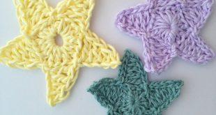 star crochet pattern how to crochet a star tutorial all three stars LDQQAHD