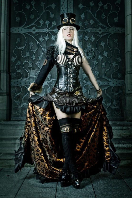 steampunk fashion steampunk dresses - i love the inner lining of that skirt. ZJCICFU