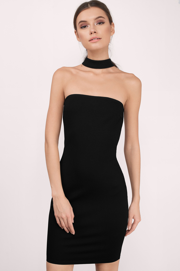 strapless dress black strapless dresses, black, bare necessities midi choker dress, ... UKYCIDK
