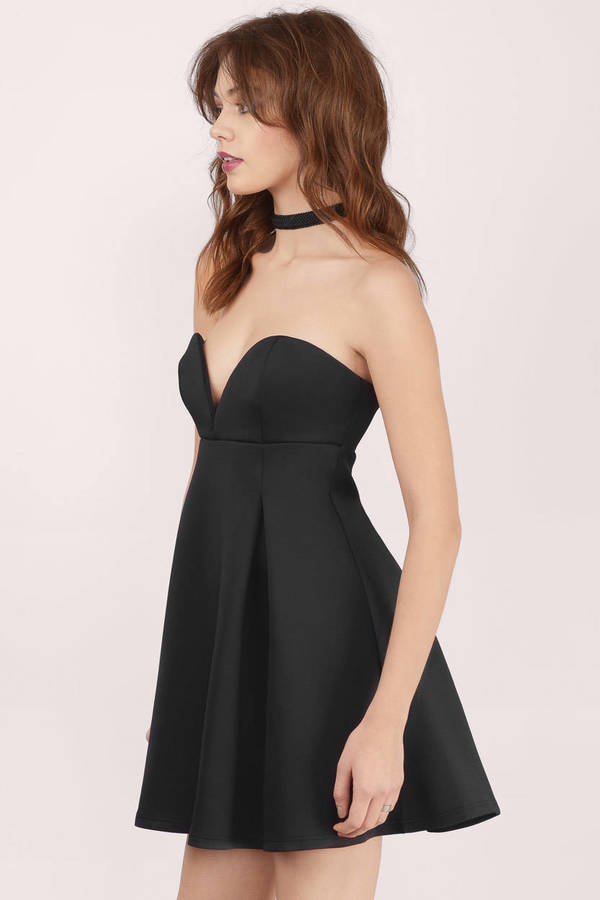 strapless dress scarlett black skater dress scarlett black skater dress ... WCEFKBG