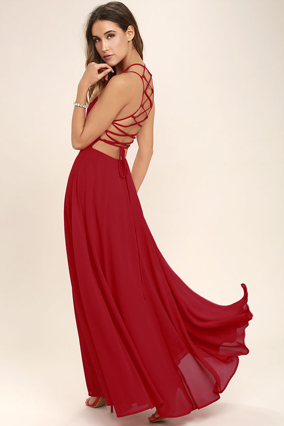 strappy to be here red maxi dress 1 WWVMYZT