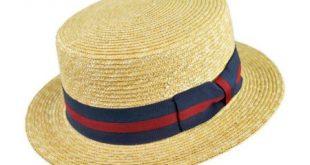 straw hat straw boater hat at village hat shop PVGSTLF