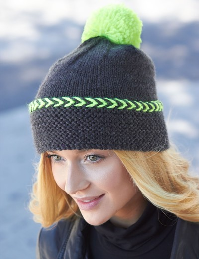 stylish free knitted hat patterns. city chic winter hat VTCKNLH