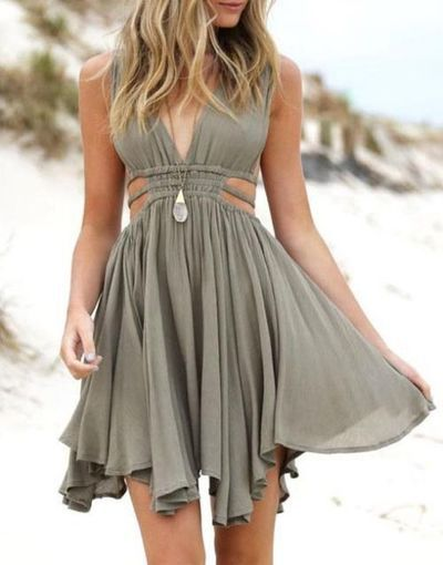 summer dresses 2016 custom simple v neck chiffon short homecoming dress for teens, cute  shortu2026 SKJCUKH