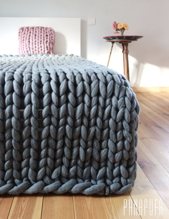 super chunky kingsize blanket,merino blanket, super chunky knit blanket,  knit throw blanket, oversized chunky MVKUKFF