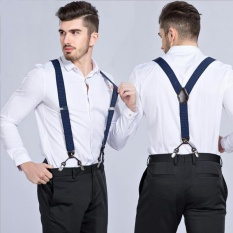suspenders for men orien 2017 new menu0027s suspenders 6clips fashion braces (black) - intl ZSWBWAY