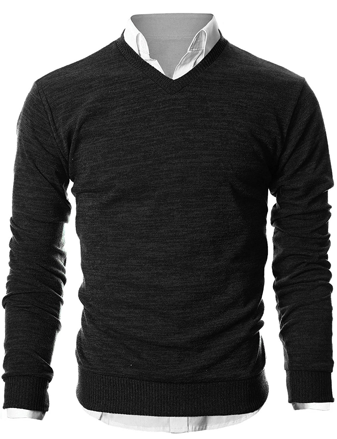 sweaters for men mens slim fit light weight v-neck pullover sweater XLUFHBT