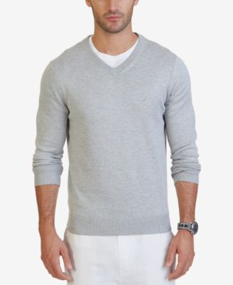 sweaters for men nautica menu0027s v-neck classic fit sweater ZMFGZOW