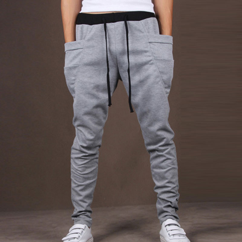 sweatpants for men new fashion style menu0027s harem pants male casual skinny cotton sweatpants  fashion pants trousers RGXHVKR