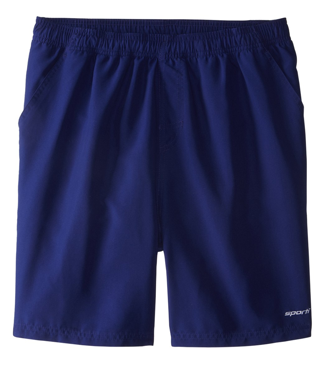 swim trunks sporti menu0027s solid swim trunk at swimoutlet.com CXAESQC