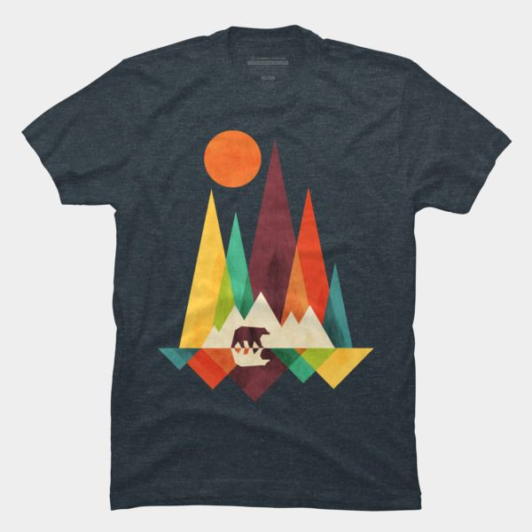 t shirt design mountain bear t shirt by radiomode design by humans NPQMJQO