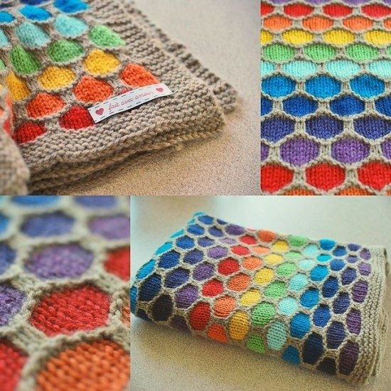 this gorgeous honeycomb knitted blanket pattern has been one of the most  popular on ZKQJCSA
