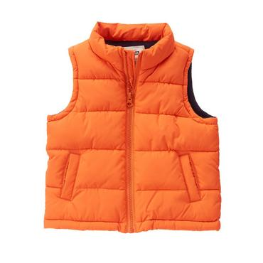 toddler boys tangerine puffer vest by gymboree FBIQCZA