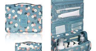 toiletry bag amazon.com : portable travel makeup cosmetic bag - mr.pro waterproof haning  travel kit toiletry NJUVEXX