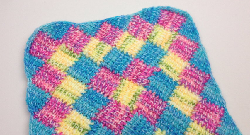 Tunisian Crochet tunisian entrelac border + tutorial UQCBXDH