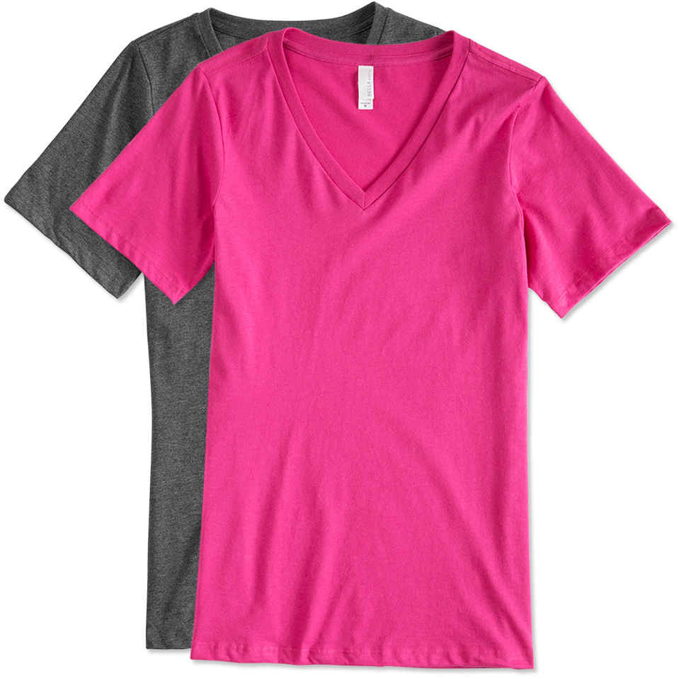 v neck t shirts custom bella ladies v-neck t-shirt - design ladies short sleeve u0026 tank tops  online WXRHVRJ