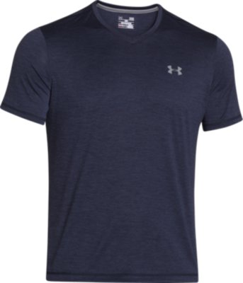v neck t shirts menu0027s ua tech™ v-neck t-shirt, midnight navy HFEFQSI
