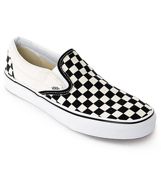 vans shoes vans slip-on black u0026 white checkered skate shoes LUVRGTX