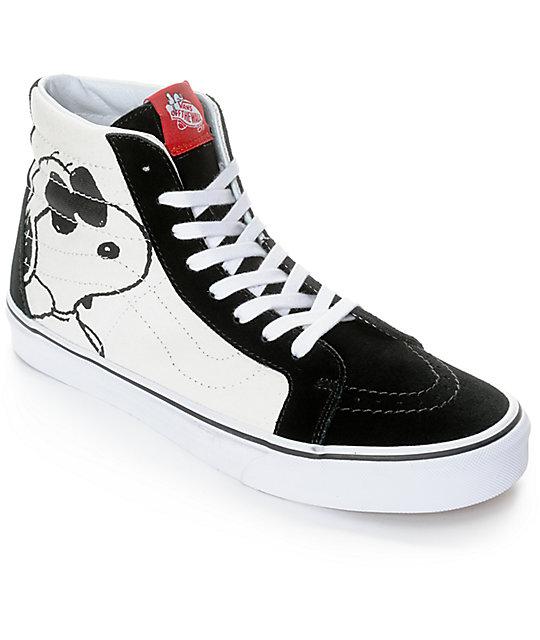vans shoes vans x peanuts sk8-hi joe cool skate shoes QYBREGE