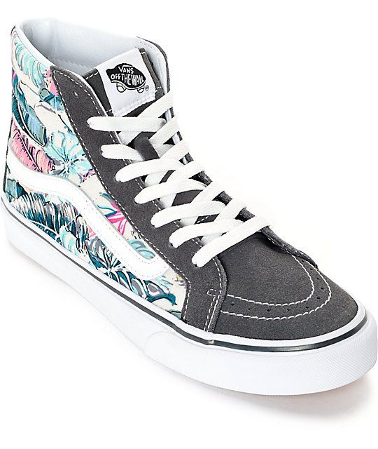 vans sk8 hi slim tropical grey shoes ITRFTDU