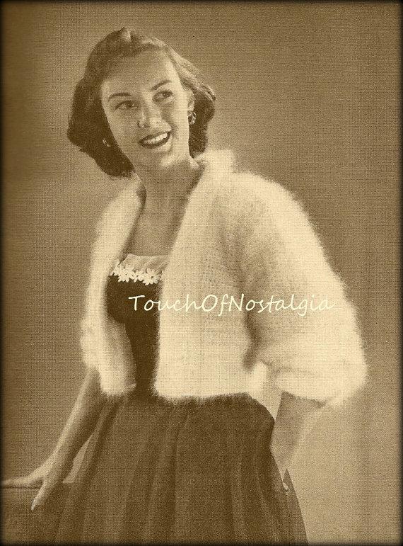 Vintage crochet shrug crochet bolero / shrug pattern IIPAZPE