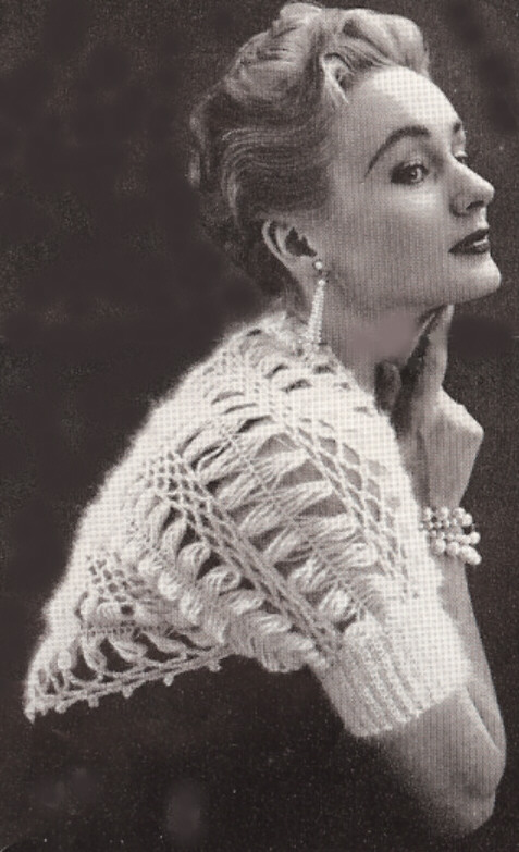 Vintage crochet shrug description: pattern to make: vintage crochet u0026 hairpin shrug ... RRLSWGY