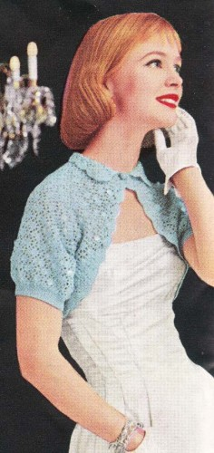 Vintage crochet shrug sparkly evening bolero shrug vintage crochet pattern pdf FCLDXFA