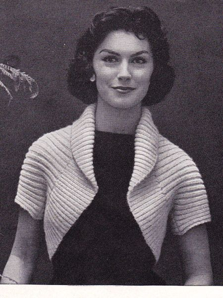 Vintage Crochet Shrug This Is A Vintage Pattern To Make A Simple
