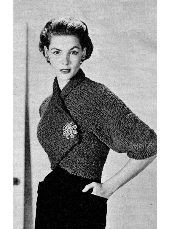 Vintage crochet shrug vintage knit shrug jacket pdf pattern by kissproofgirly WUJEFSQ