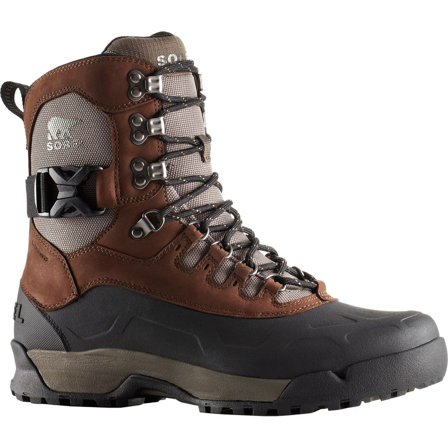 waterproof boots sorel - paxson tall waterproof boot - menu0027s - tobacco/wet sand MHEQPUO