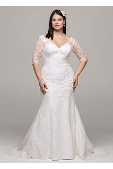 wedding dresses with sleeves long mermaid/ trumpet wedding dress - NANLHQY