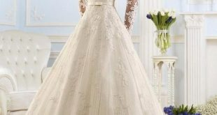 wedding dresses with sleeves new arrival fashionable scoop long sleeve wedding dresses appliques lace  backless bridal gowns ll0055 NWYILMP