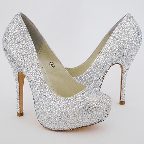 wedding heels lulu crystal bridal shoes 7m (fits 6.5) ... ZKJXCMK