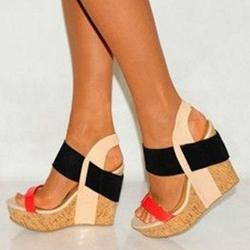 wedges heels shoespie color block wooden heel wedge sandals KKYDNYG