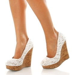 wedges heels shoespie lace wedge heels GKMXASF