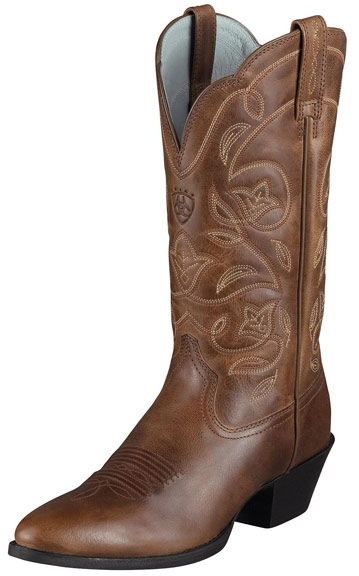 western boots for women ariat womenu0027s heritage western r toe cowboy boots – russet rebel MRIJGTQ