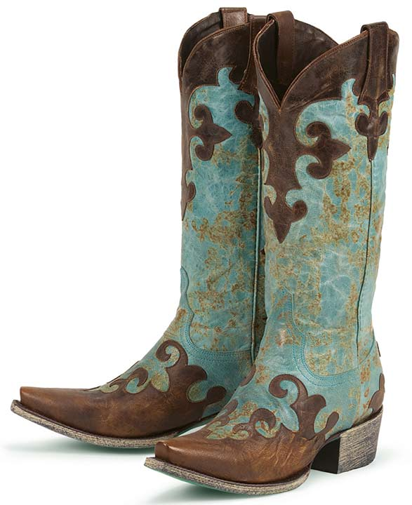 western boots for women lane boots womenu0027s u0027dawsonu0027 cowboy boots – turquoise/ brown … XLQTUKZ